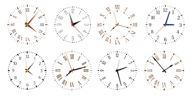 Modern clock faces.