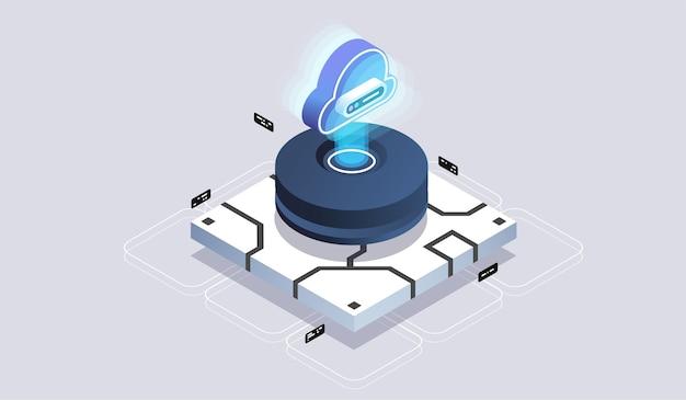 最新のクラウドテクノロジーとネットワーキングの概念