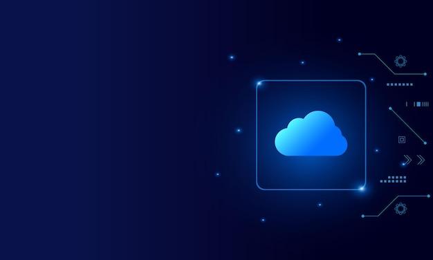 Современные облачные технологии футуристического онлайн-хранилища работают из дома