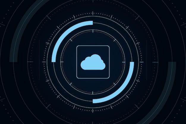 Современное футуристическое онлайн-хранилище облачных технологий