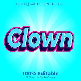 Современный клоун стиль текста редактируемый эффект шрифта