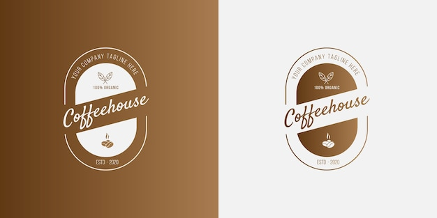Modern coffee logo concept for cafe coffee business
