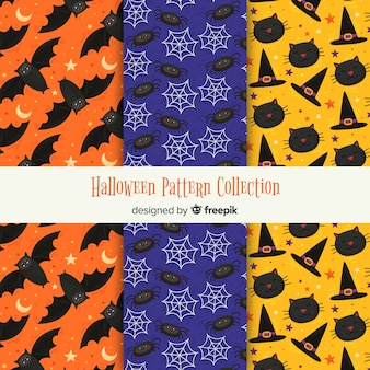 Modern collection of halloween patterns