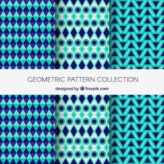 Современная коллекция геометрических фоновых рисунков