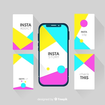 Modern collection of instagram stories templates