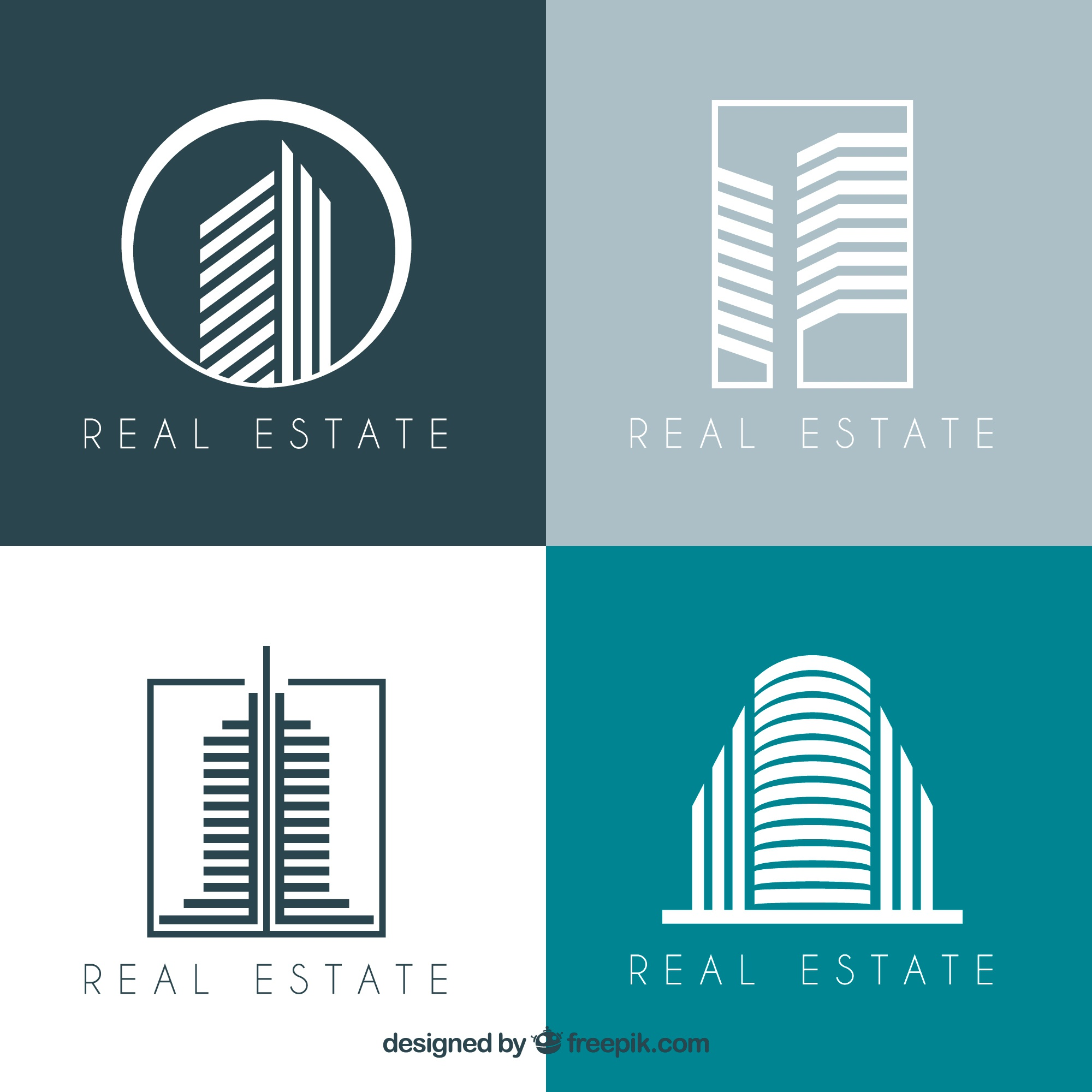 Modern collection of real estate logotypes