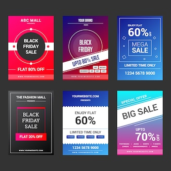 Modern collection of social media banners & flyers for branding & digital marketing