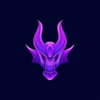 Modern color dragon logo
