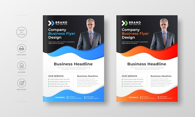 Modern color gradient a professional company business flyer