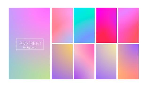 현대 색상 그라디언트 세트