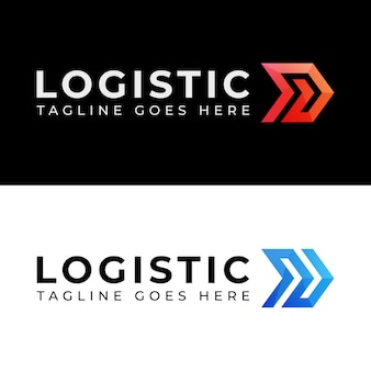 Modern color logistics delivery two version logo