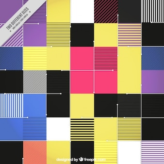 Современный цветной фон плоские квадраты