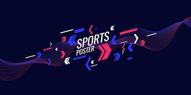 디자인에 적합한 스포츠 일러스트레이션을 위한 현대적인 컬러 포스터