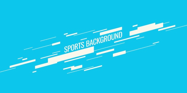 스포츠 벡터 그래픽을 위한 현대적인 컬러 포스터