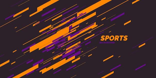 スポーツのためのモダンな色のポスター。ベクトルイラスト