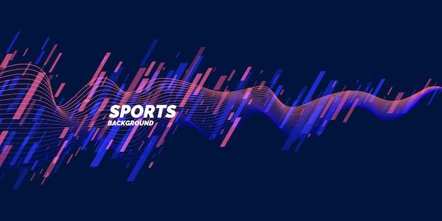 スポーツのためのモダンな色のポスター