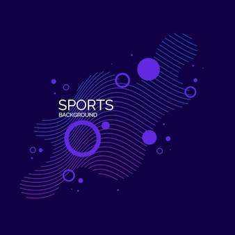 Modern colored poster for sports. vector abstract elements with dynamic waves.