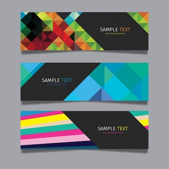 Modern colorful abstract banner set