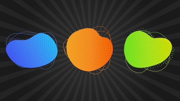 Modern colorful abstract shapes set
