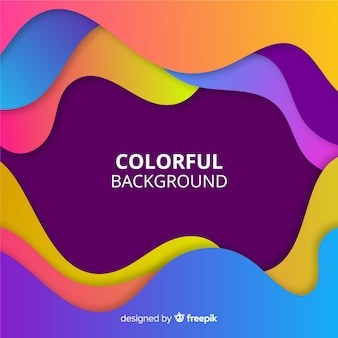 Modern colorful background with abstract shapes