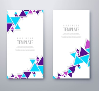 Modern colorful banner template design