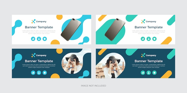 Modern colorful banner template