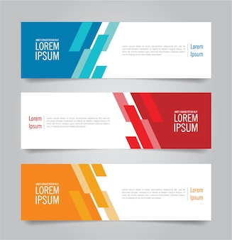 Modern colorful banner template.