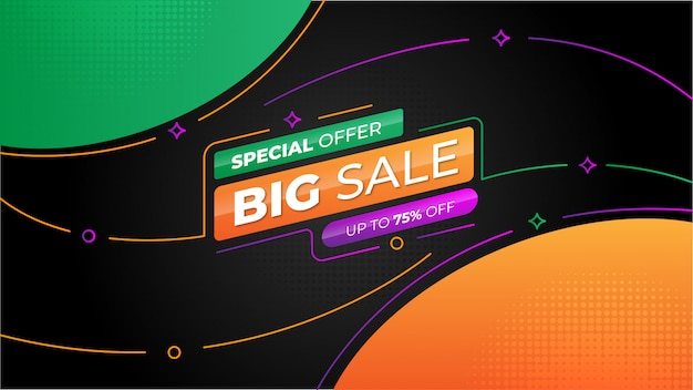 Modern colorful big sale banner