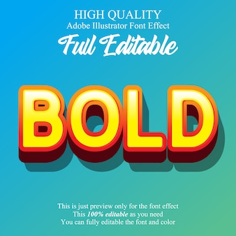 Modern colorful bold editable graphic style text effect