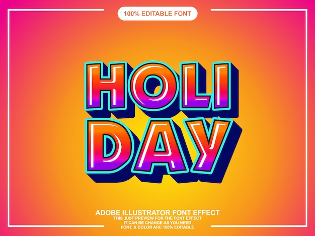 Modern colorful bold editable typography graphic style