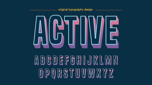 Modern colorful bold typography design