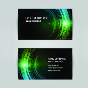 Modern colorful buisness card