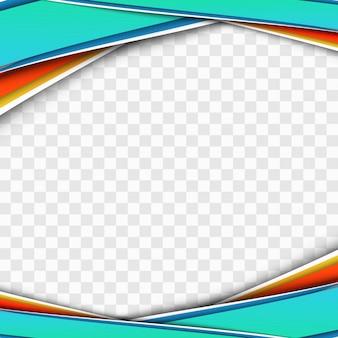 Modern colorful business wave transparent design vector