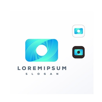 Modern colorful camera logo