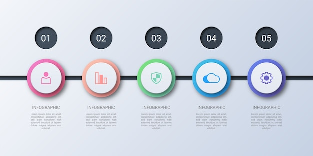 Modern colorful circle business infographic
