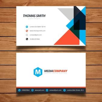 現代のカラフルな企業のビジネスカードteamplate