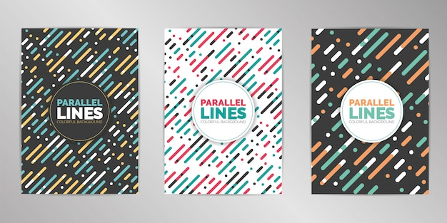 Modern colorful cover design set