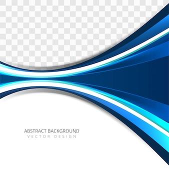 Современный красочный творческий синий фон волны