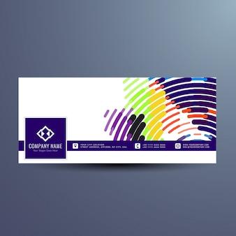 Modern colorful facebook banner