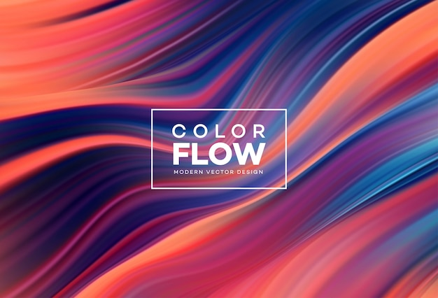 Modern colorful flow background.