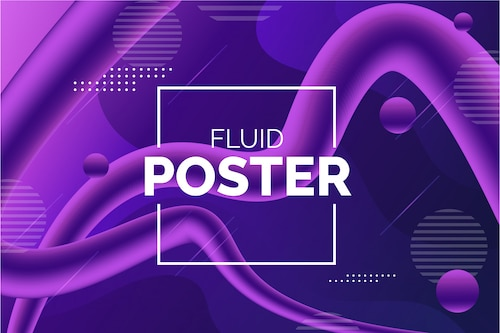 Modern colorful fluid background