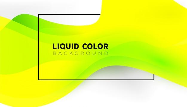 Современная красочная жидкость творческий фон с динамическими линейными волнами