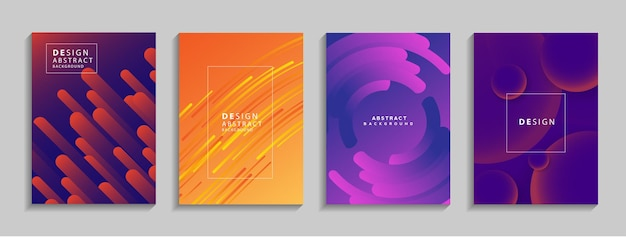배너 포스터 책에 대 한 현대 다채로운 기하학적 추상 배경 유체 모양 구성