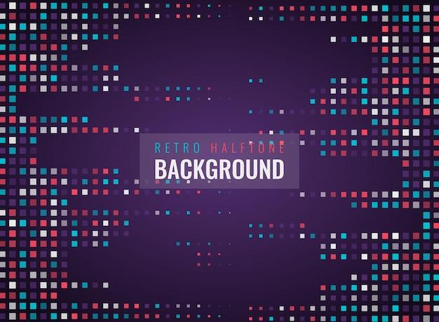 Modern colorful geometric retro halftone background design