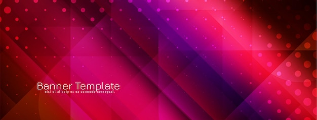 Современный красочный геометрический стиль баннера дизайн шаблона вектор