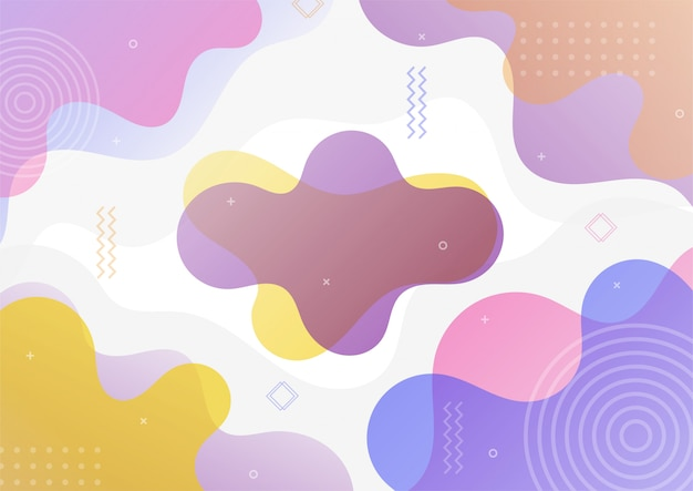 Modern colorful gradient abstract geometric shape.
