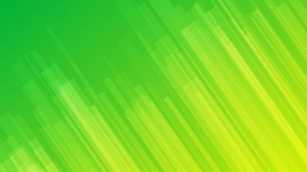 線とモダンなカラフルなグラデーションの背景。緑の幾何学的な抽象的なプレゼンテーションの背景。ベクトルイラスト