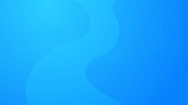 波線のあるモダンでカラフルなグラデーションの背景。青い幾何学的な抽象的なプレゼンテーションの背景。ベクトルイラスト