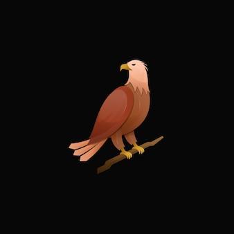 Современный красочный градиентный логотип орла