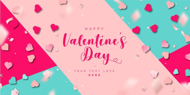 Modern colorful happy valentine's day background